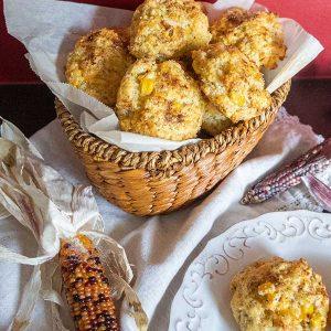 Gluten-Free Cheddar Corn Biscuits