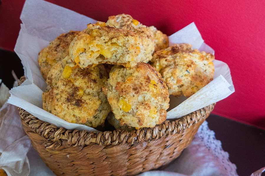 cheddar corn biscuits, gluten-free