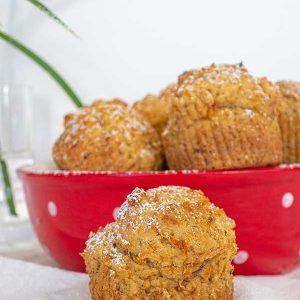 One Bowl Gluten-Free Banana and Carrot Muffins