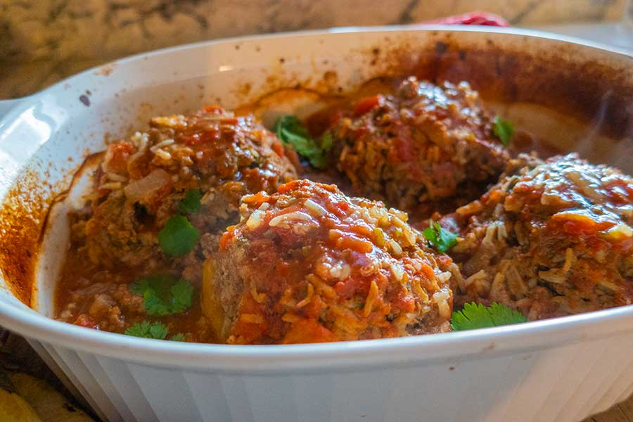 Indian stuffed peppers