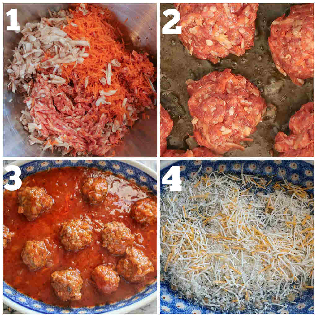 meatballs and rice casserole