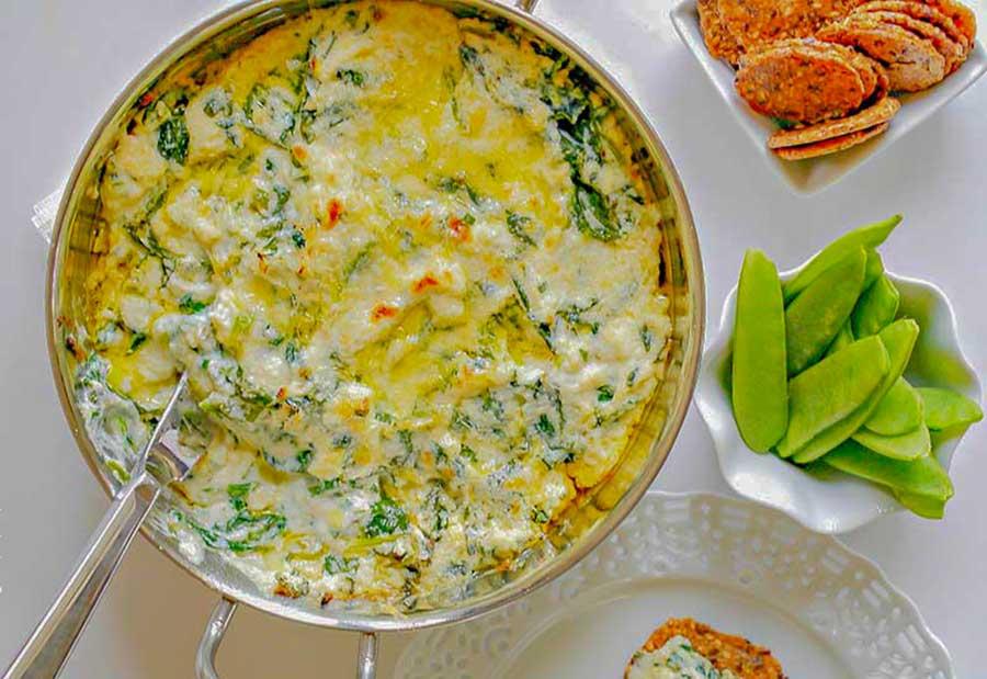 spinach ricotta dip, hot