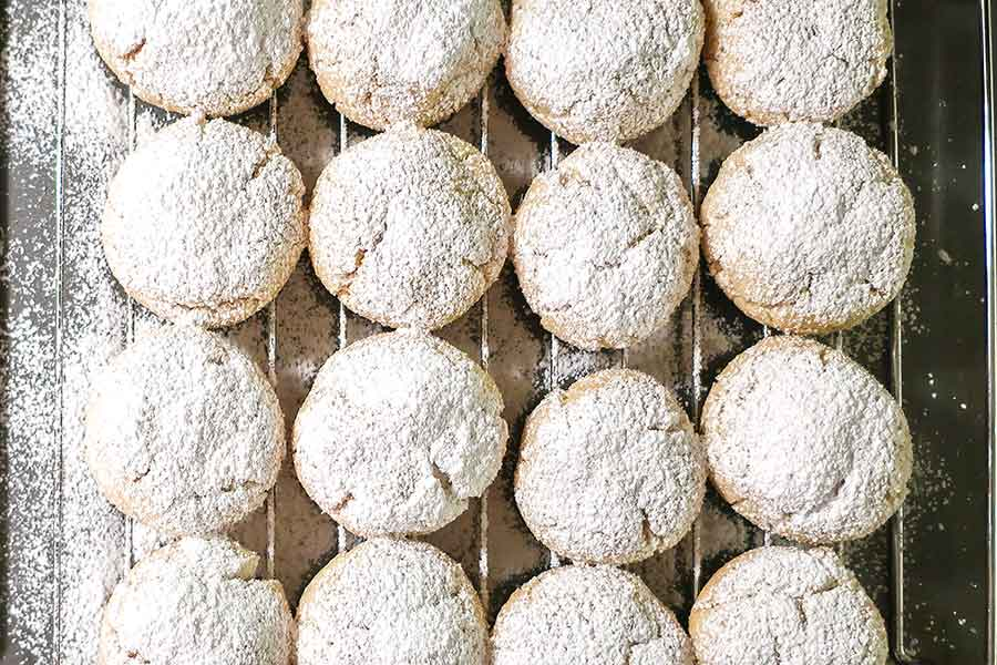 grain-free snowball cookie