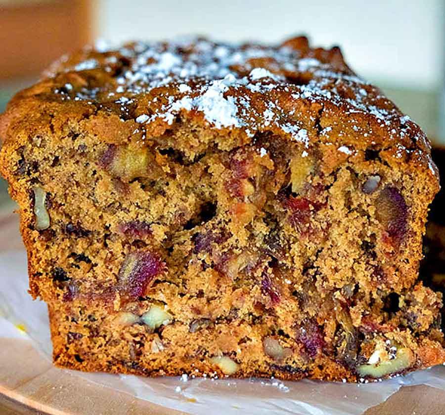 walnut date loaf, gluten free