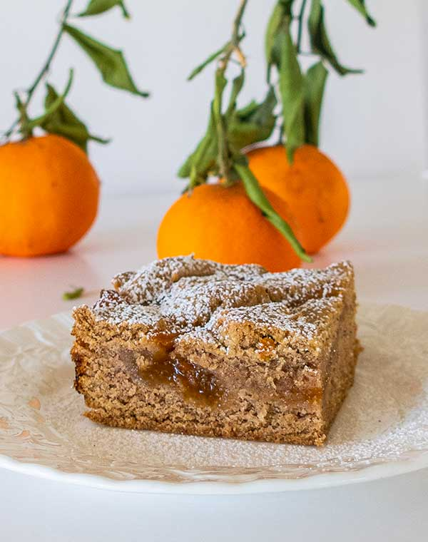 Gluten-Free Apricot Linzer Squares