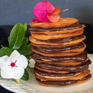 Gluten-Free Cappuccino Ganache Lace Cookies