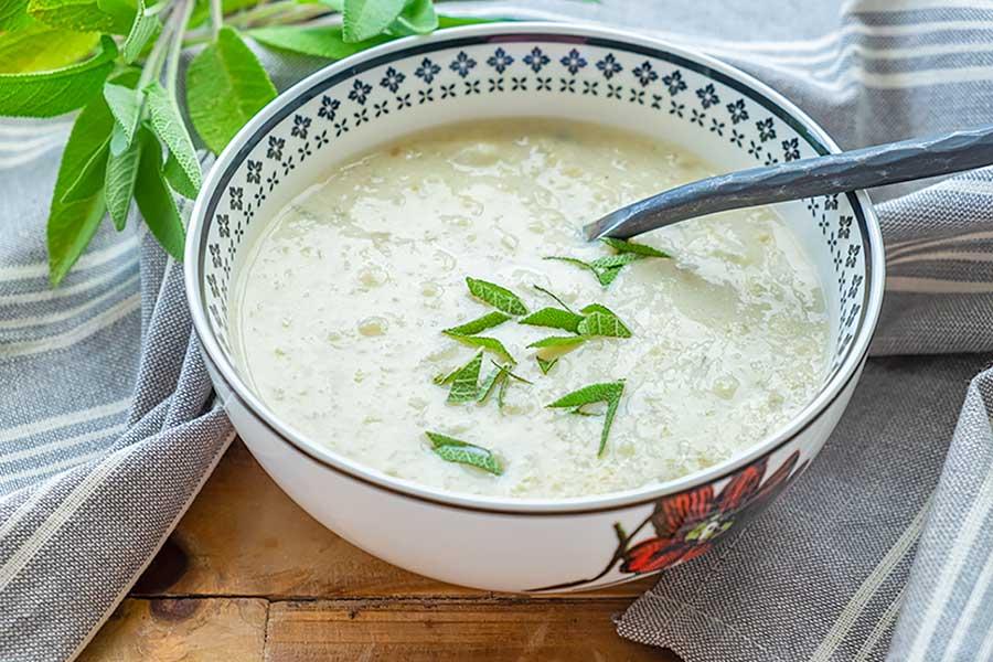 keto cream of cauliflower soup