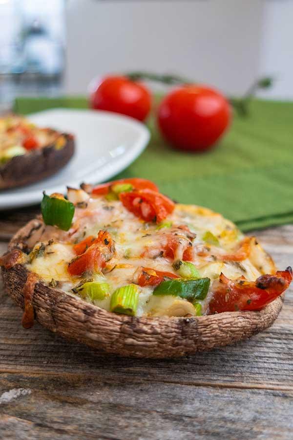 the very best pizza stuffed portobello mushrooms