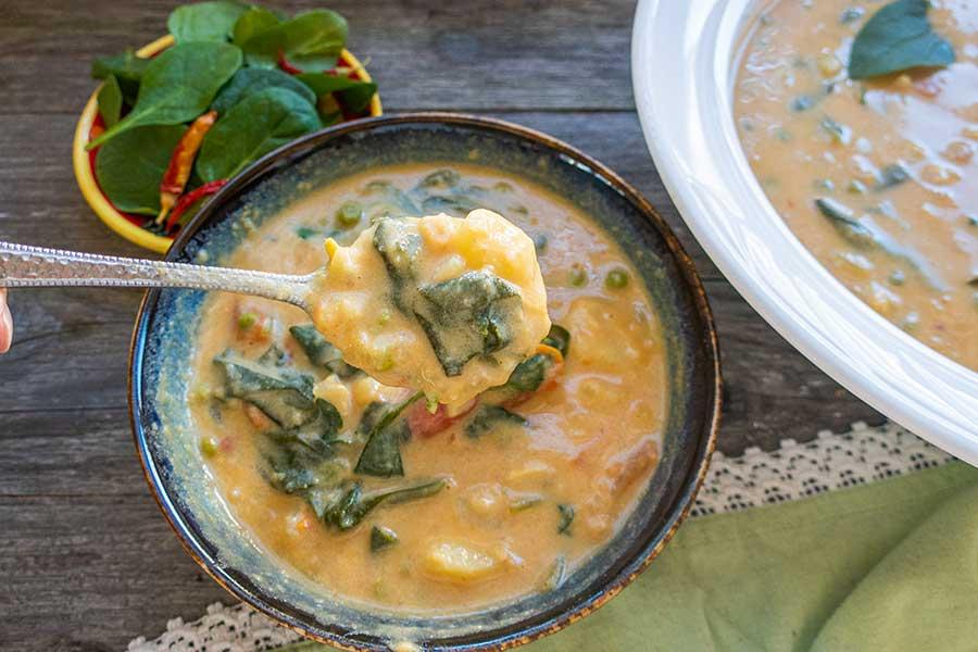 curry soup, vegan