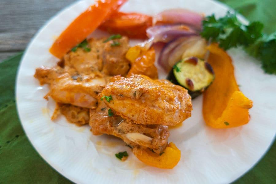 sheet pan cajun chicken