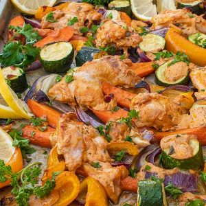 sheet pan cajun chicken with roasted veggies
