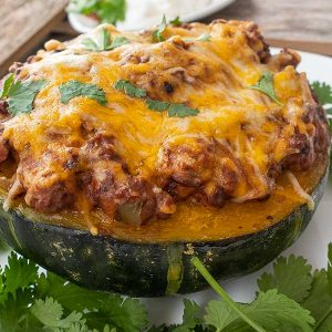 Taco Stuffed Roasted Kabocha