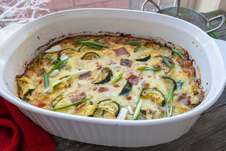 zucchini and ham cheese casserole