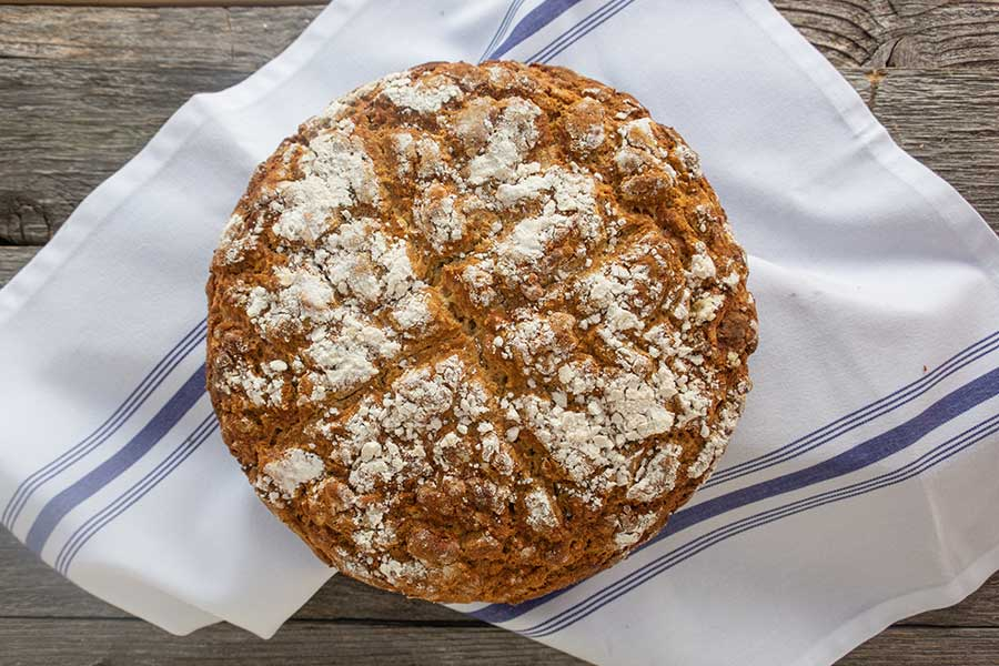 blue cheese soda bread, gluten free