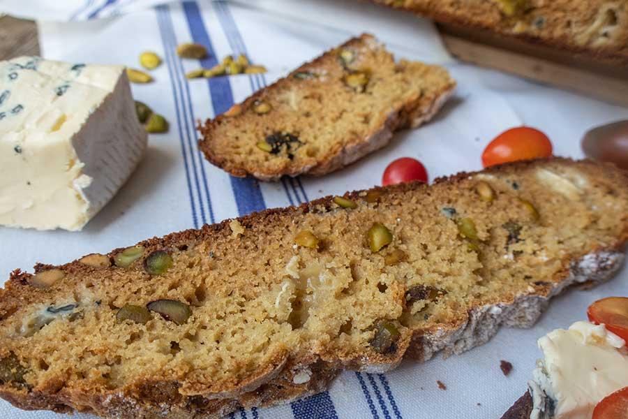 pistachio soda bread, gluten free