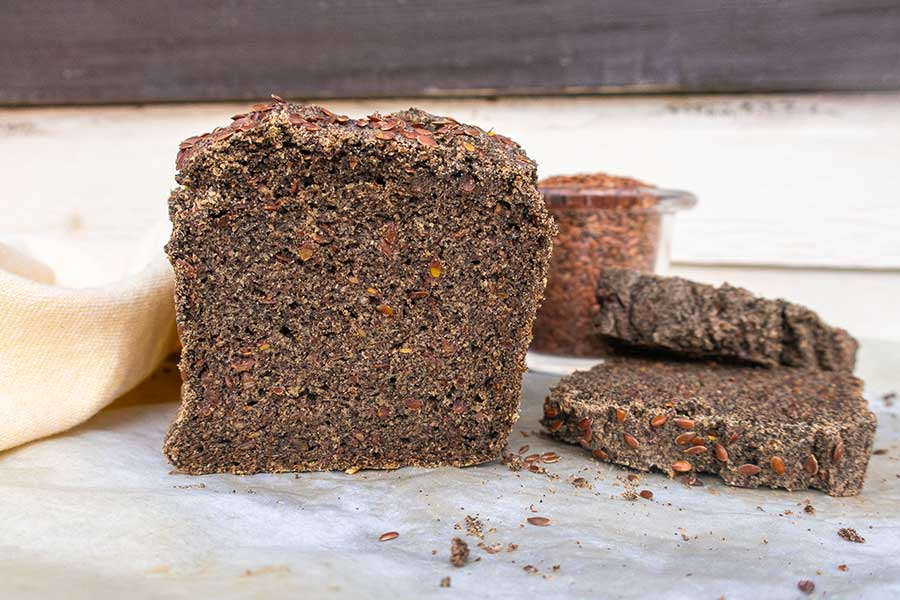 buckwheat flax bread, grain free