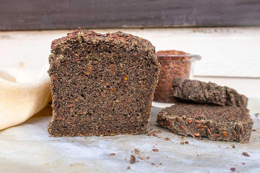 buckwheat flax bread, grain free