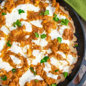 Cast Iron Pizza With Butter Chicken – Gluten Free