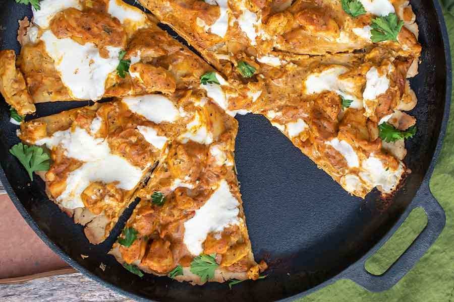 cast iron pizza, gluten free