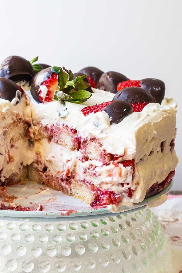 celiac recipe, strawberry tiramisu,