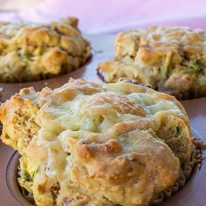 Gluten-Free Zucchini Bacon And Cheese Muffins