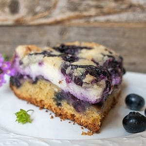 Gluten-Free Blueberry Cream Cheese Coffee Cake