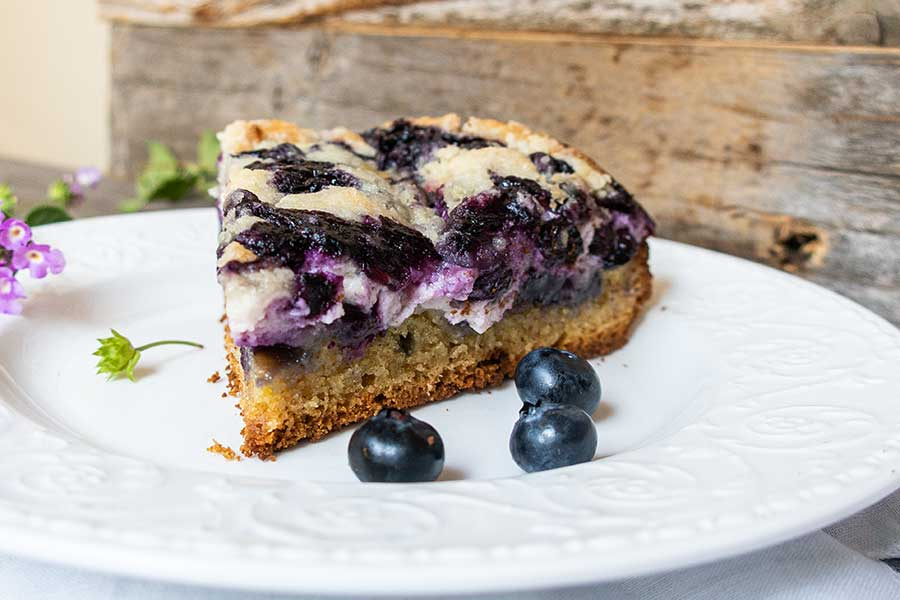 blueberry cream cheese coffee cake, gluten free