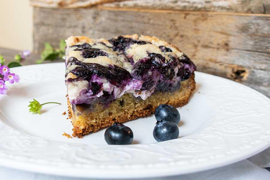 blueberry cream cheese coffee cake, gluten free
