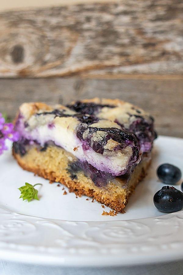 Gluten-Free Blueberry Cream Cheese Coffee Cake