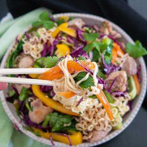 Gluten-Free Chicken Ramen Noodle Salad