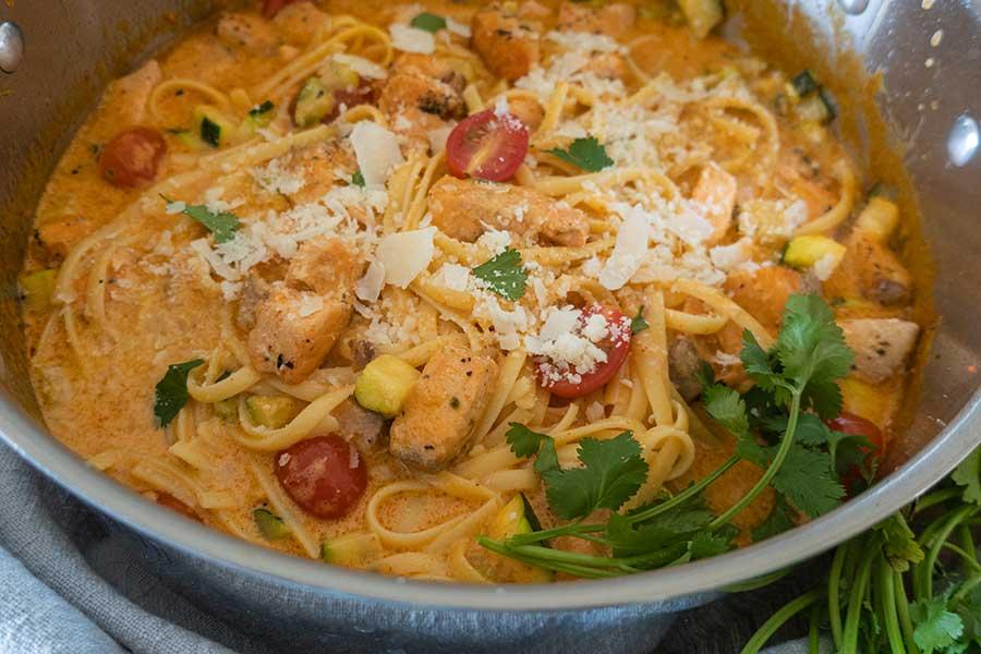 creamy salmon pasta