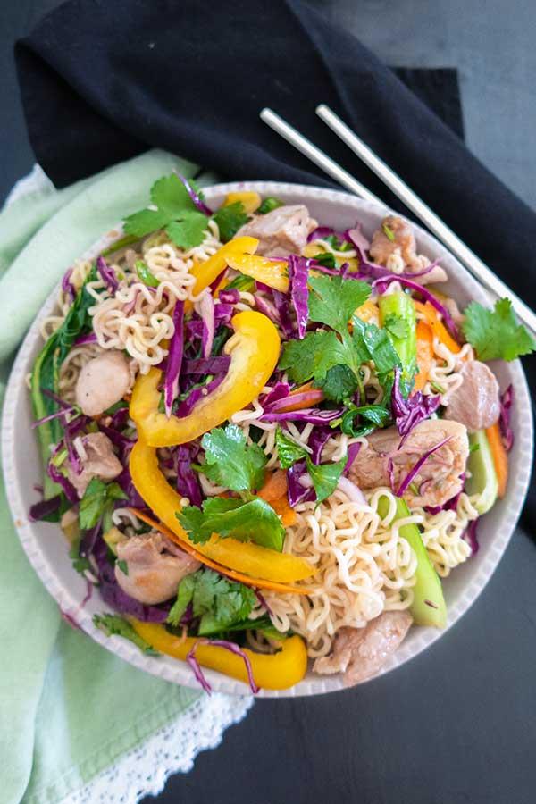 ramen noodle salad, gluten free