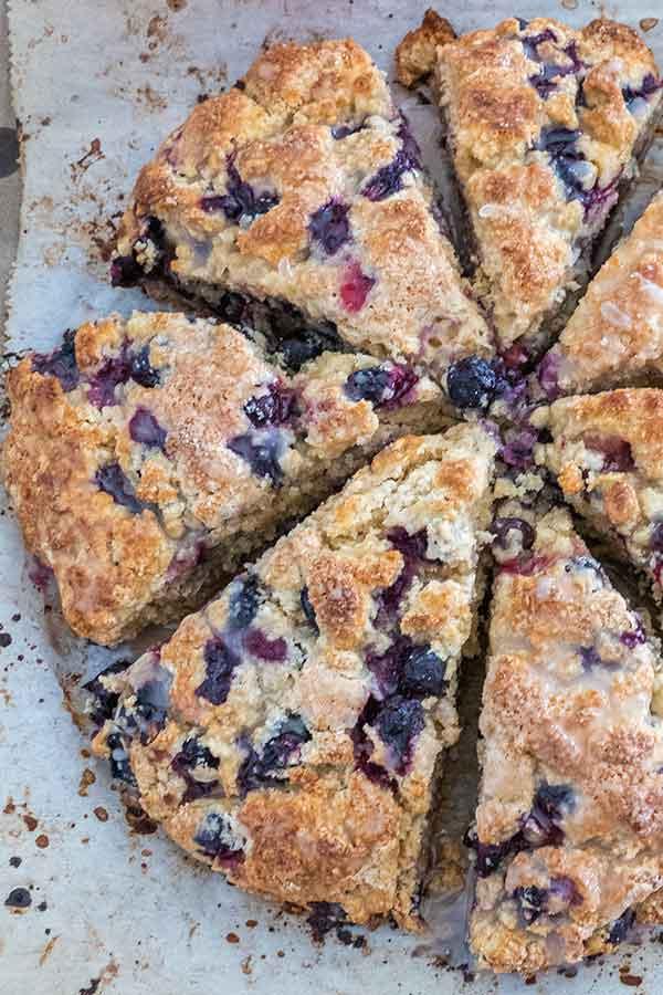 Gluten-Free Zesty Blueberry Scones