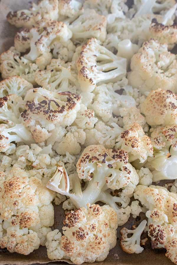 cauliflower parmesan, keto