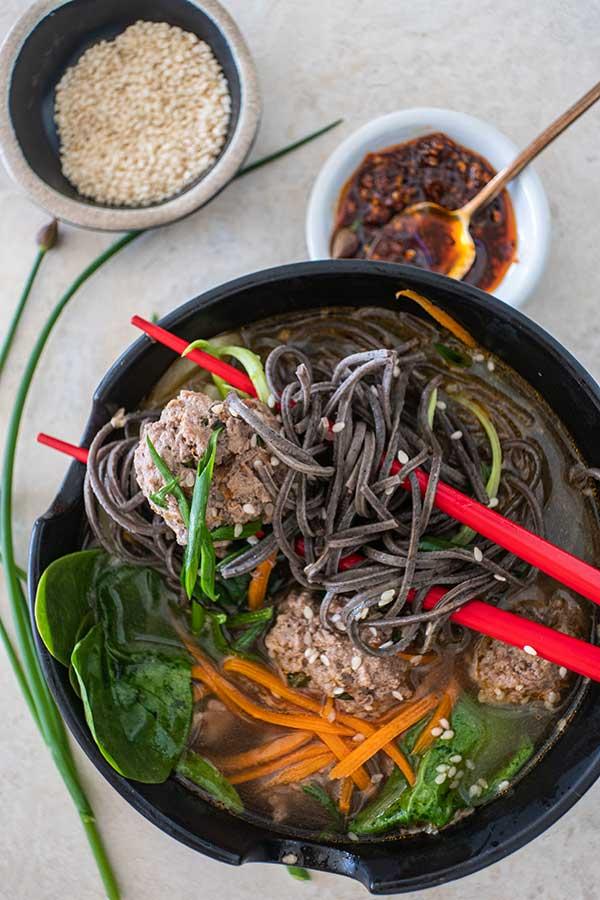 miso noodle soup, gluten free