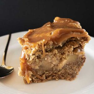Gluten-Free Apple Pie Squares with Almond Butter Caramel