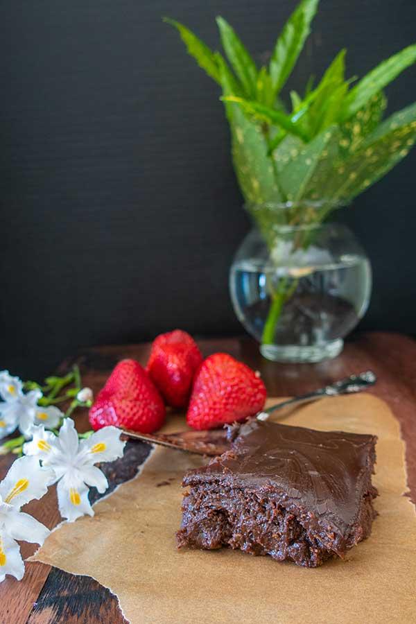 chocolate coffee brownie, gluten free