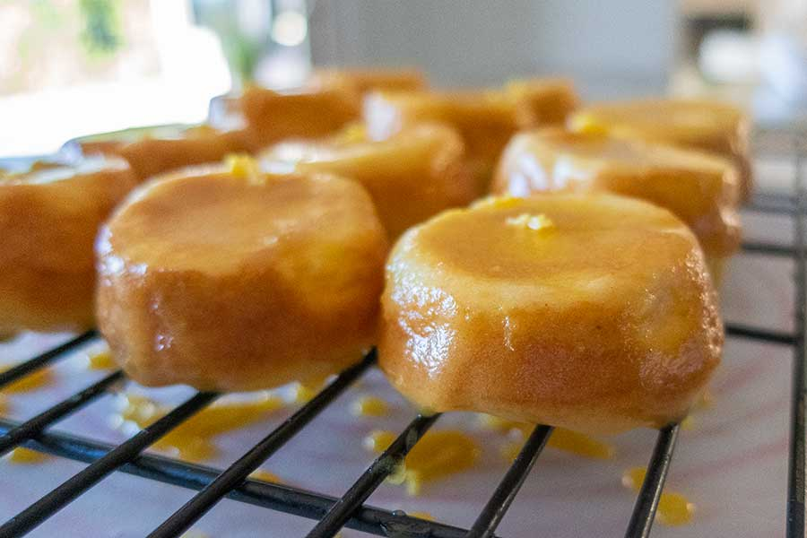 mini lemon cakes, gluten-free