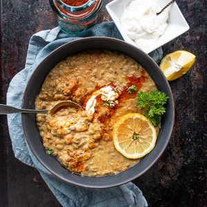 Moroccan Beef and Lentil Soup