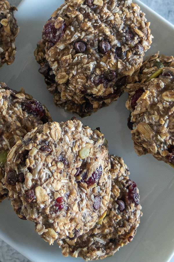 healthy morning cookie, gluten-free