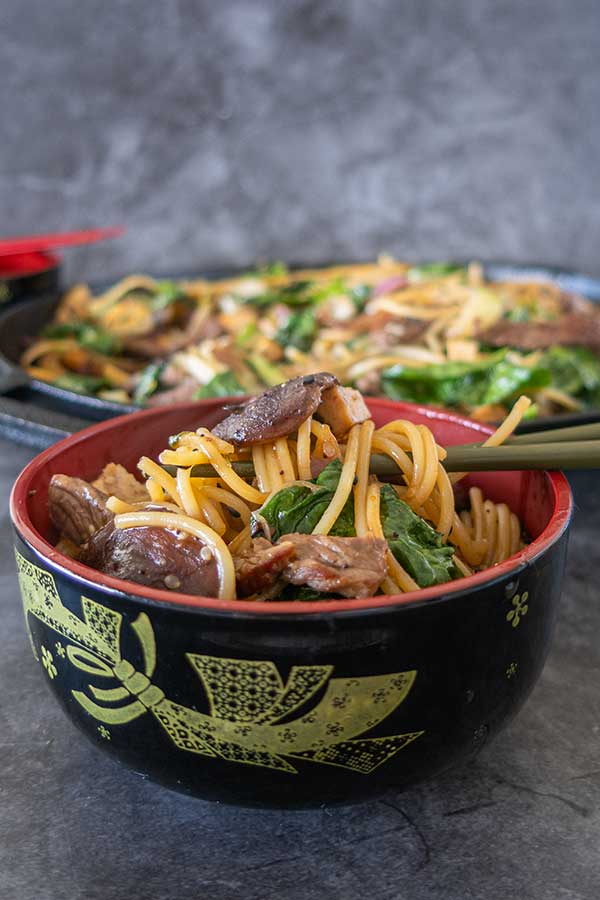 beef sukiyaki noodle salad, gluten free