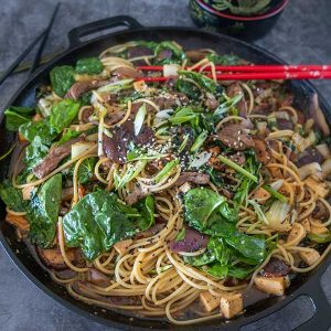 Gluten-Free Beef Sukiyaki Noodle Salad
