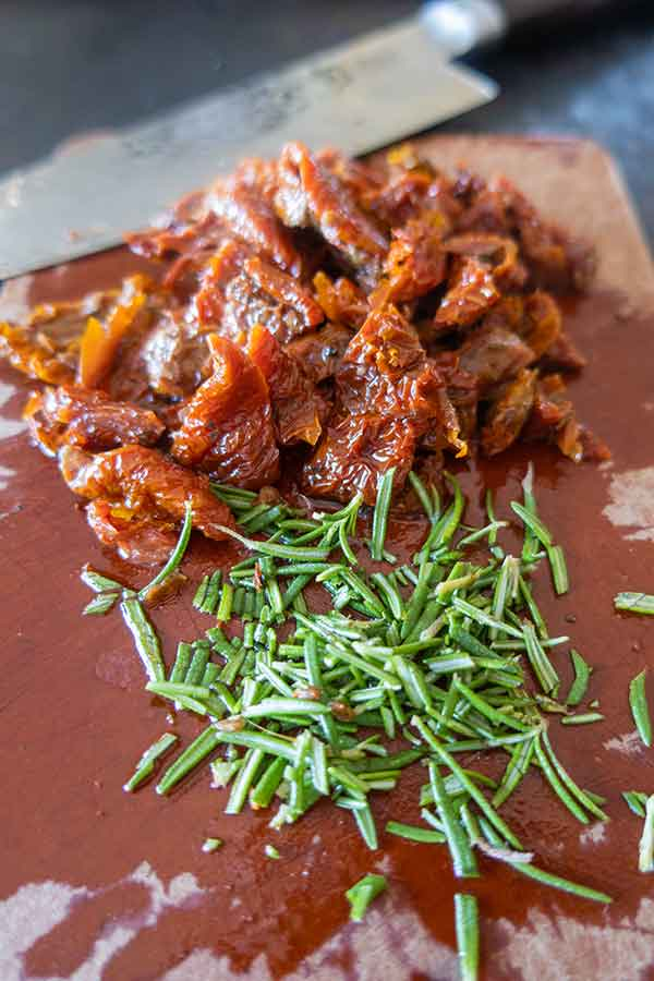 sun dried tomatoes and rosemary