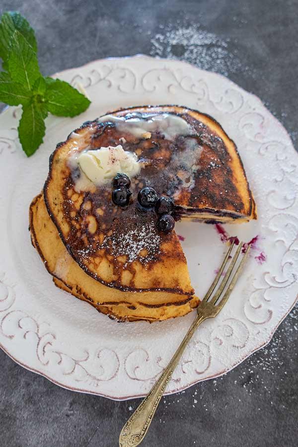 coconut flour pancakes, grain-free