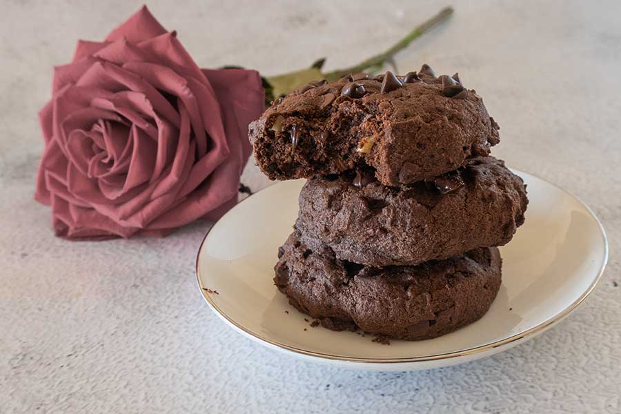 fudgy brownie cookies, gluten-free