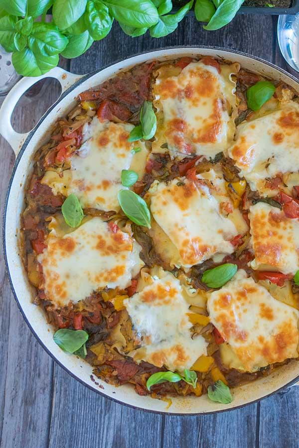 skillet lasagna cheese rolls, gluten free