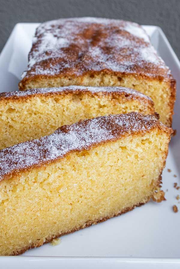 rice flour pound cake, gluten free