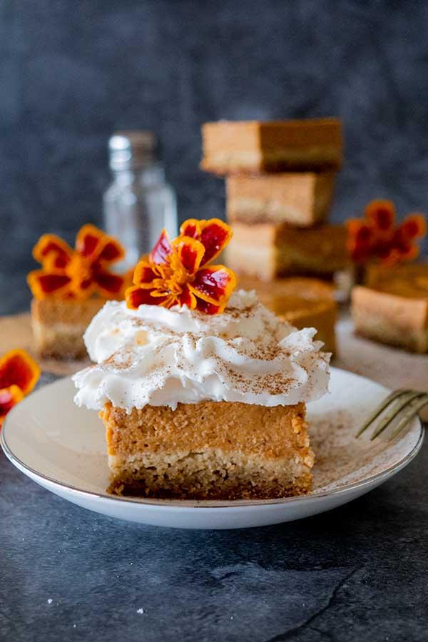 grain-free pumpkin pie bars