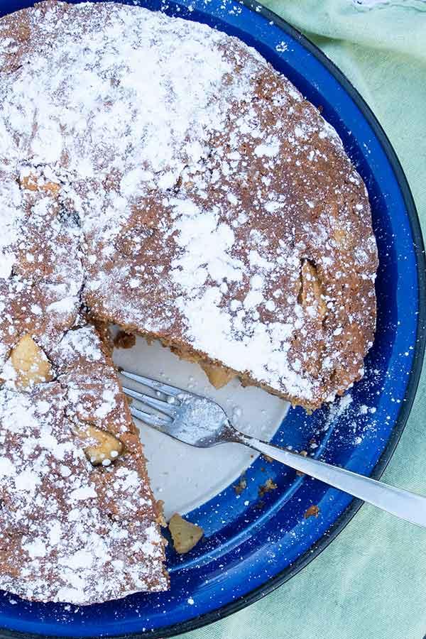 french apple cake, gluten free