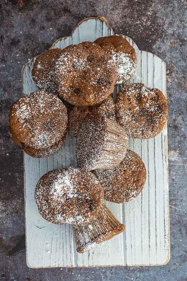 rice flour zucchini muffins, gluten-free